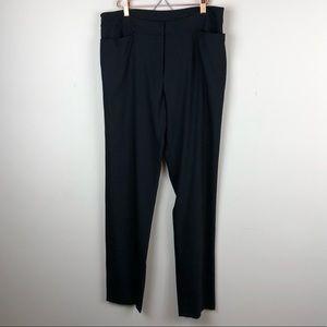 EILEEN FISHER | Black Wool Trouser Pants Medium